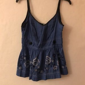 Nice Anthropologie Floreat Foral Tank Top